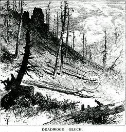 Deadwood Gulch from Scribners monthly - 1877