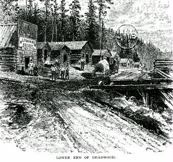 Lower End of Deadwood in 1877